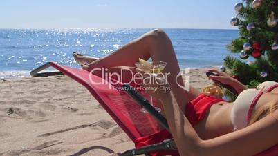 Dolly: Bikini beauty tropical Christmas beach vacations