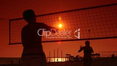 Summer vacations activity beach volleyball