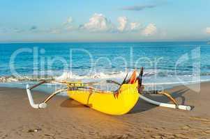 Balinese fisherman boat