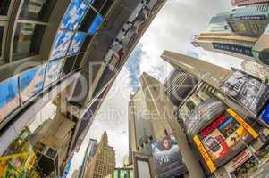 NEW YORK CITY - JUN 11: Times Square, featured with Broadway The