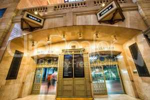 Grand Central Terminal entrance with moving people