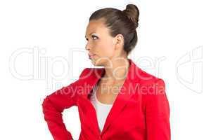 Portrait of dissatisfied businesswoman