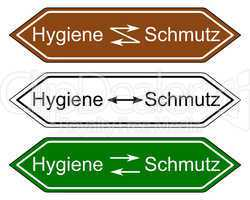 Wegweiser Hygiene und Schmutz