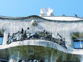 BARCELONA, SPAIN - MAY 24: Casa Batllo Facade. The famous buildi
