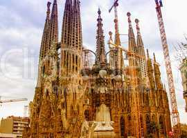 BARCELONA, SPAIN - MAY 24: La Sagrada Familia, the impressive ca