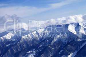 Mountainside in snow