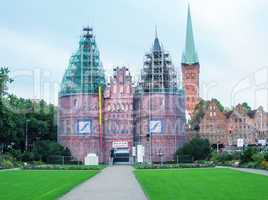 LUBECK, GERMANY - JUNE 30, 2007: City view on a beautiful summer