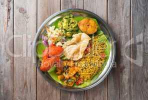 Biryani rice on dining table