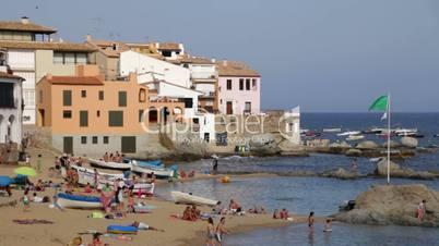 Leisure Time on a Mediterranean Beach