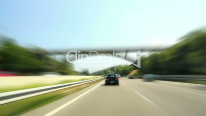 Day Highway Camera Car Time Lapse Super High Speed