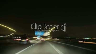 Night Highway Camera Car Time Lapse High Speed