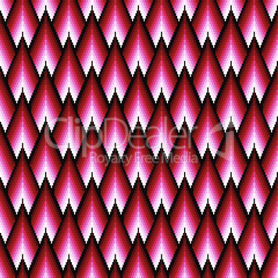 Seamless pattern with red elements
