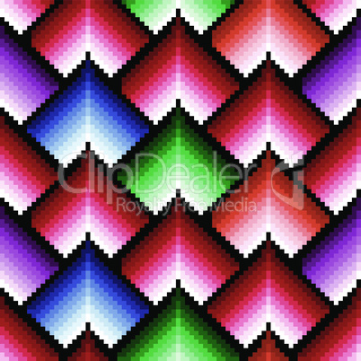 Seamless pattern with multicolor elements