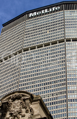 NEW YORK CITY - FEB 14: The MetLife Building and Grand Central T