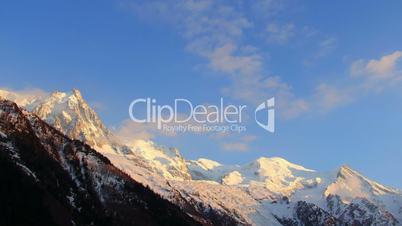Mont Blanc moutains timelapse