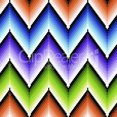 Seamless pattern with several colors zigzag elements