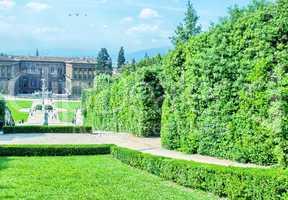 FLORENCE, ITALY - JUNE 22, 2012: Tourists enjoy Boboli gardens o