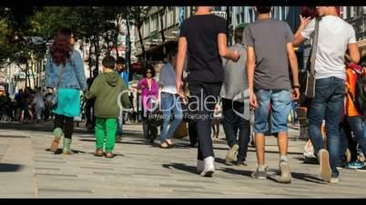 Vienna Pedestrian Zone Mariahilferstraße // Timelapse