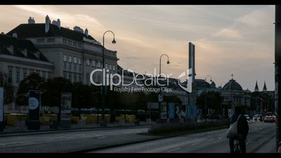 Museumsquartier and Volkstheater Vienna at Dawn // Timelapse