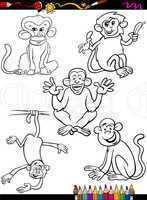 cartoon monkeys coloring book