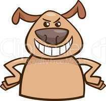 mood cruel dog cartoon illustration