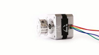 Electric Stepper Motor Lying Down