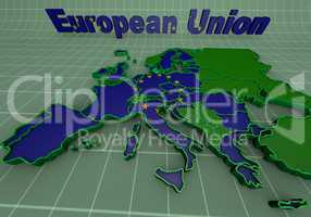 european countries 3d illustration