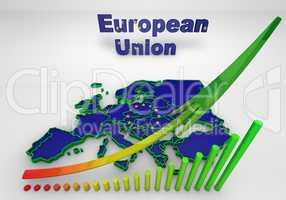 european countries 3d illustration