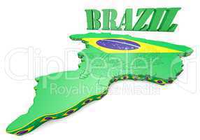 map illustration of Brazil