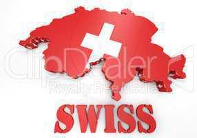 Map illustration of Switzerland