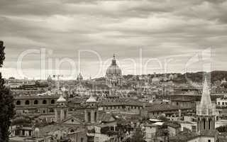 Rome, Italy. Aerial view of the ancient city