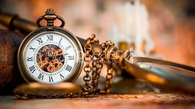Vintage Antique pocket watch.Stock video: