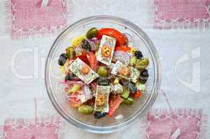 Greek salad from above