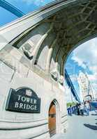 LONDON - SEPTEMBER 28, 2012: Tourists enjoy the view of Tower Br