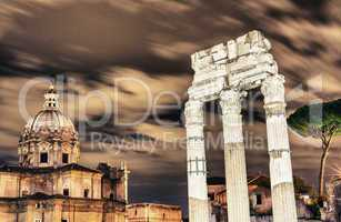 Fori Imperiali, Ruins of Rome at night