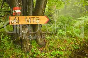 Bike route signboard