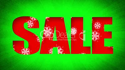 Sale Text Xmas Snow Background (Loop)