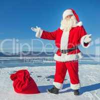 Nice winter day, a good Santa