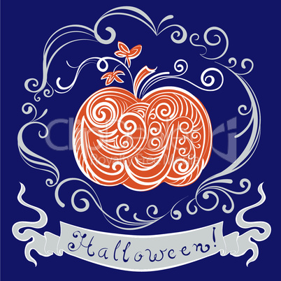 lace pumpkin for hallowmas