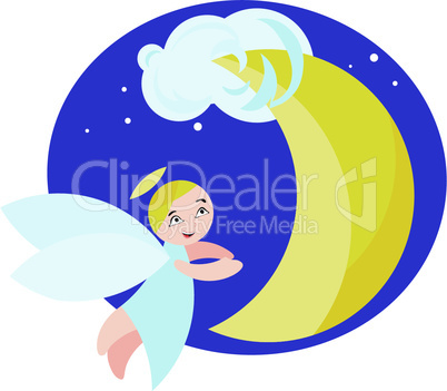 angel and moon.eps