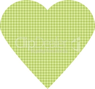 Textiles green vector heart