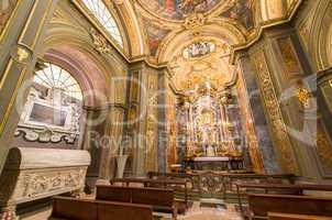 Interior of Neonian Baptistery in Ravenna, Italy