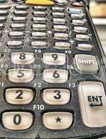 Barcode terminal reader - Close-up view