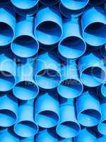 Struktur aus blauen Rohren