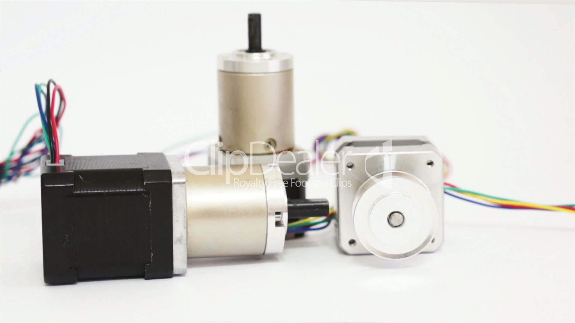 Industrial Three Stepper Motors Dolly Royalty Free Video And Stock Footage