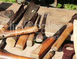 Werkzeuge eines Zimmermanns