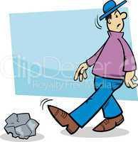 inattentive man cartoon illustration