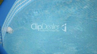 exchange of chlorine tablets in the pool