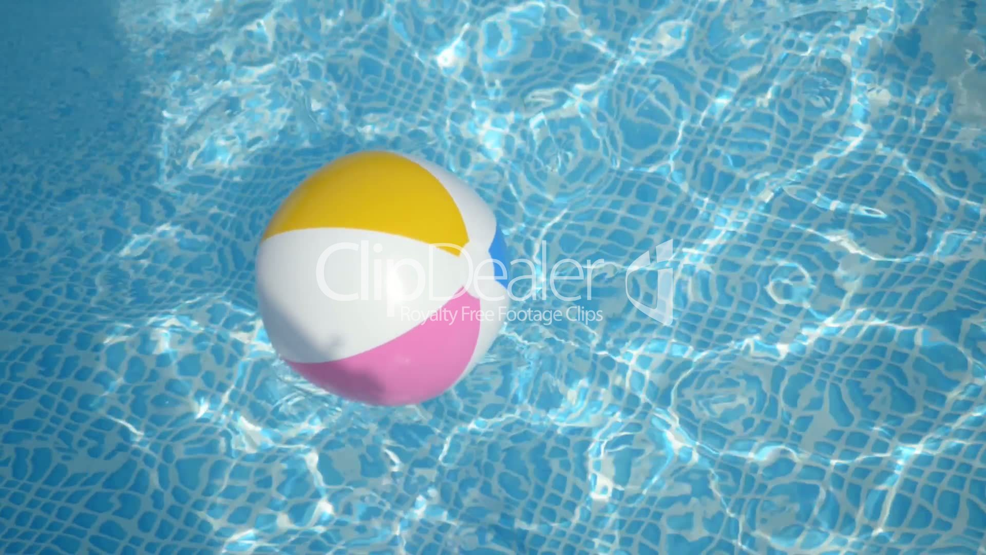 Beach Ball In Pool On Pool Beach Ball In The Pool Royaltyfree Video And Stock Footage