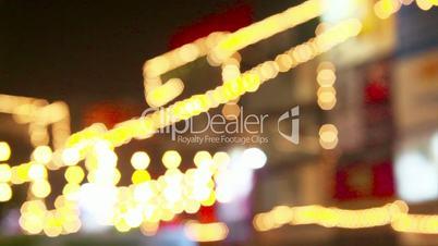 Defocused shot of decorative lights